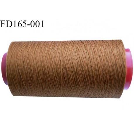 Destockage cone de 2000 m de fil fin mousse polyester n° 165 couleur marron clair longueur du cône 2000 mètres bobiné en France