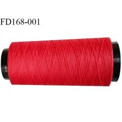 Destockage Cone de 1000 m de fil mousse polyamide fil n° 125 couleur rouge longueur de 1000 mètres bobiné en France