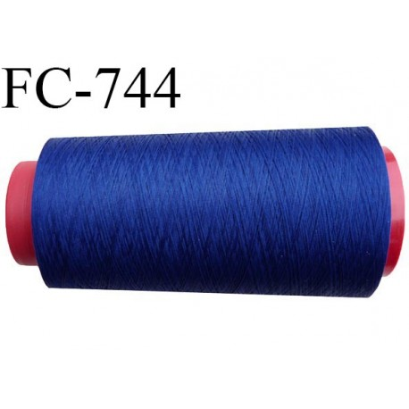Cone de  fil 2000 m polyester fil n° 120 couleur bleu longueur 2000 mètres bobiné en  France