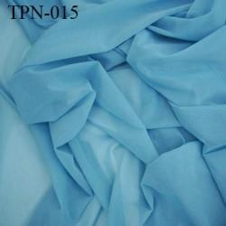 Powernet spécial lingerie extensible  les deux sens couleur bleu haut de gamme largeur 145 cm prix pour 10 cm de longueur