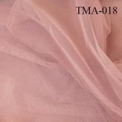 marquisette tulle spécial lingerie haut de gamme couleur bois de rose largeur 150 cm prix pour 10 cm