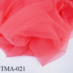 marquisette tulle spécial lingerie haut de gamme couleur corail largeur 150 cm prix pour 10 cm