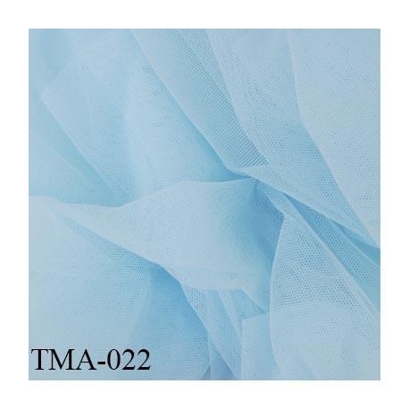 marquisette tulle spécial lingerie haut de gamme couleur bleu clair largeur 150 cm prix pour 10 cm