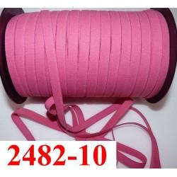 élastique plat largeur 10 mm couleur rose confetti vendu au mètre