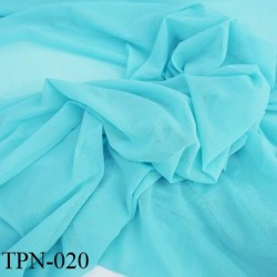 Powernet spécial lingerie extensible  couleur bleu lagon turquoise clair haut de gamme largeur 150 cm prix pour 10 cm longueur