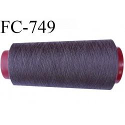 Cone de  fil 1000 m polyester fil n° 120 couleur taupe longueur 1000 mètres bobiné en  France