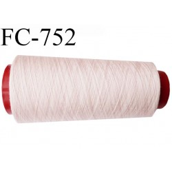 Cone de 1000 m fil polyester n° 120 couleur rose pétale longueur de 1000 mètres bobiné en France
