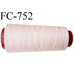Cone de 2000 m fil polyester n° 120 couleur rose pétale longueur de 2000 mètres bobiné en France