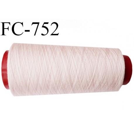 Cone de 5000 m fil polyester n° 120 couleur rose pétale longueur de 5000 mètres bobiné en France