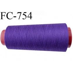 Cone de 1000 m fil polyester n° 120 couleur violet longueur de 1000 mètres bobiné en France