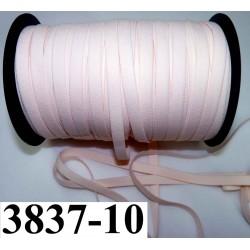 élastique plat largeur 10 mm couleur rose pétale vendu au mètre
