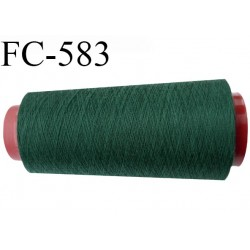 Cone de fil polyester fil n°80 couleur vert longueur du cone 5000 mètres bobiné en France