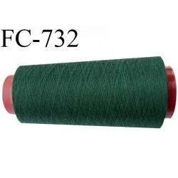 Cone de fil  1000 mètres  polyester fil n° 50 couleur vert longueur 1000 mètres bobiné en  France