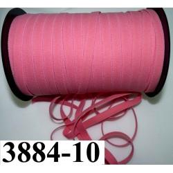élastique plat largeur 10 mm couleur rose corail vendu au mètre