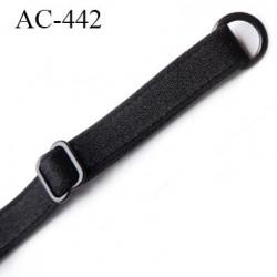bretelle 10 mm lingerie SG  largeur 10 mm longueur 26 cm plus réglage barrette et anneaux métal plastifié prix pièce