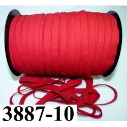 élastique plat largeur 10 mm couleur rouge sévillane vendu au mètre