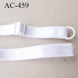 bretelle 12 mm lingerie SG  largeur 12 mm longueur 22 cm haut de gamme barrette et anneaux métal plastifié prix pièce