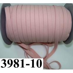 élastique plat largeur 10 mm couleur rose prince de galles vendu au mètre