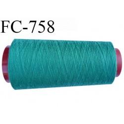 Cone de 1000 m fil polyester n° 120 couleur vert longueur de 1000 mètres bobiné en France
