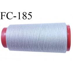 Cone de fil mousse polyamide fil n° 120 couleur gris  longueur du cone 2000 mètres bobiné en France