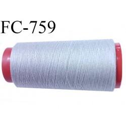 Cone de 1000 m fil polyester fil n° 100 couleur gris longueur de 1000 mètres bobiné en France