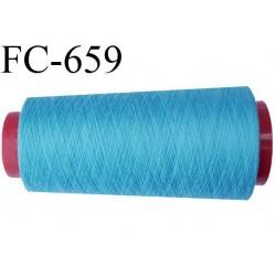 CONE de 2000 m fil polyester fil n° 120 couleur bleu longueur de 2000 mètres bobiné en France