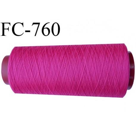 Cone 1000 m fil mousse polyamide n°120 couleur fushia lumineux longueur du cone 1000 mètres  bobiné en France