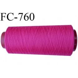 Cone 2000 m fil mousse polyamide n°120 couleur fushia lumineux longueur du cone 2000 mètres  bobiné en France