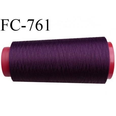 Cone de 1000 m fil polyester fil n° 100 couleur cardinal ou cassis longueur de 1000 mètres bobiné en France