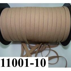 élastique plat largeur 10 mm couleur marron clair peau au mètre