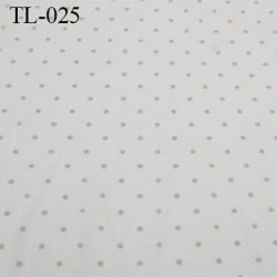 Tissu lycra spécial lingerie fin haut de gamme couleur bleu largeur 140 cm poids au mètre carré 130 grs prix pour 10 cm