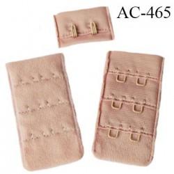 Agrafe attache 30 mm  de soutien gorge 3 rangées 2 crochets haut de gamme largeur 30 mm hauteur 55 mm couleur rose sweet