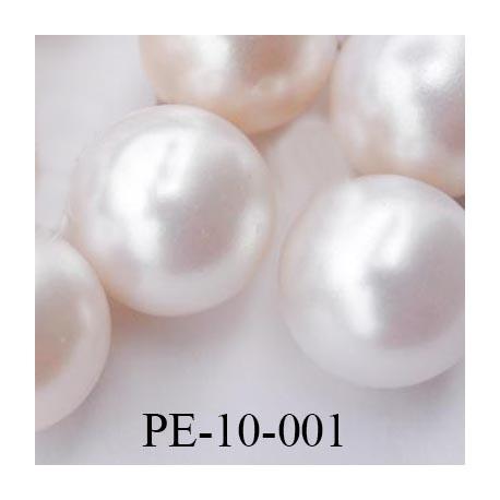Perle nacré 10 mm attention non percée très belle diamètre 10 mm prix de la pièce