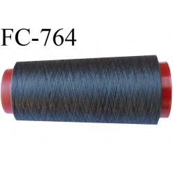 Cone 1000 m fil mousse polyester n°160 couleur gris anthracite longueur 1000 mètres bobiné en France