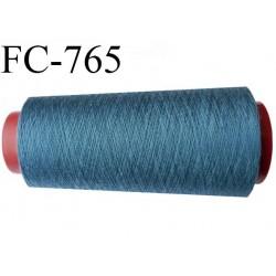 Cone 1000 m fil mousse polyester n°160 couleur bleu  longueur 1000 mètres bobiné en France