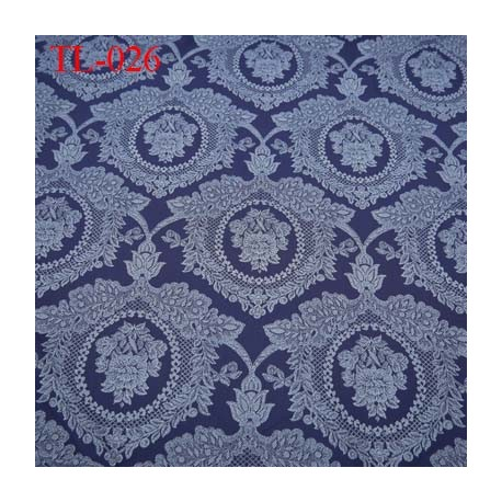 Tissu lycra spécial lingerie fin haut de gamme couleur bleu a motif largeur 160 cm poids au m2  120 grs prix pour 10 cm