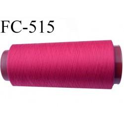 Cone de fil mousse polyester  fil n° 160 couleur fushia cone de 5000 mètres bobiné en France