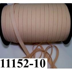 élastique plat largeur 10 mm couleur pèche  vendu au mètre