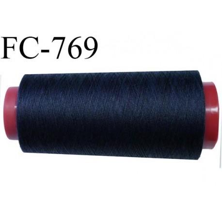 Cone de 1000 m fil polyester fil n° 100 couleur bleu marine longueur de 1000 mètres bobiné en France