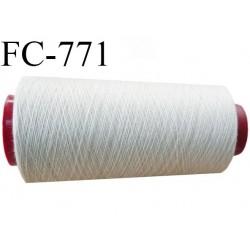 Cone de 2000 m fil polyester fil n° 100 couleur mastic longueur de 2000 mètres bobiné en France