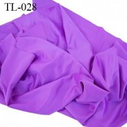 Tissu lingerie ou bain couleur violet satin très haut de gamme largeur 94 cm 280 grs au m2  prix pour 10 centimètres