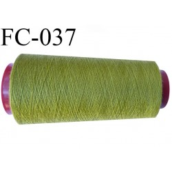 Cone de 5000 m fil polyester n° 120 couleur vert longueur de 5000 mètres bobiné en France