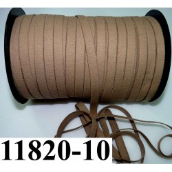 élastique plat largeur 10 mm couleur nougatine marron clair  vendu au mètre