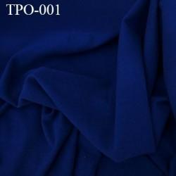 Tissu Polaire couleur bleu marine largeur 160 cm poids 300 grs au m2 prix pour 10 cm de longueur