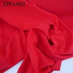 Tissu Polaire couleur rouge largeur 160 cm poids 300 grs au m2 prix pour 10 cm de longueur
