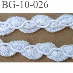 biais galon ruban largeur 10 mm couleur blanc et bordures brillanttes le mètre