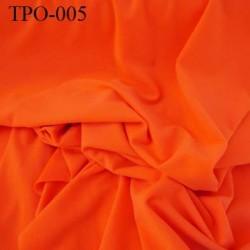 Tissu Polaire couleur orange lumineux haut de gamme largeur 160 cm poids 300 grs au m2 prix pour 10 cm de longueur