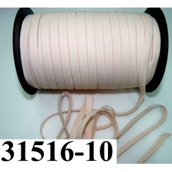 élastique plat largeur 10 mm couleur pèche sodior  vendu au mètre