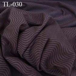 Tissu lingerie couleur marron chocolat très haut de gamme largeur 150 cm prix pour 10 centimètres de longueur tissu ajouré