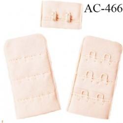 Agrafe attache 30 mm  de soutien gorge 3 rangées 2 crochets largeur 30 mm hauteur 55 mm couleur boudoir